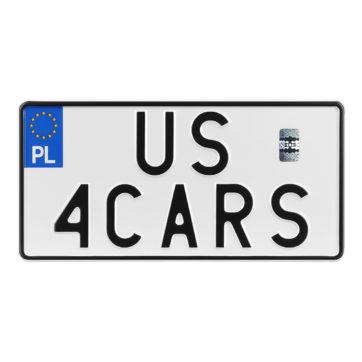 tablica rejestracyjna polska rozmiar amerykański us usa jdm