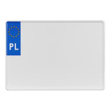 tablica rejestracyjna polska unijna na przyczepę 305 x 214 mm