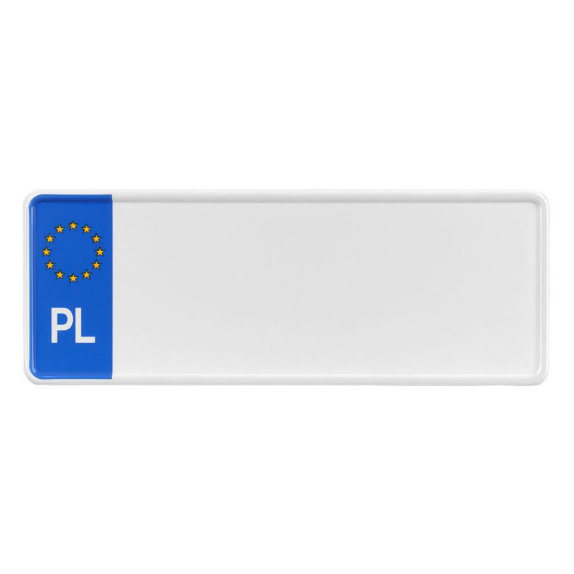 tablica rejestracyjna polska pomniejszona do aut z usa 4 znakowa