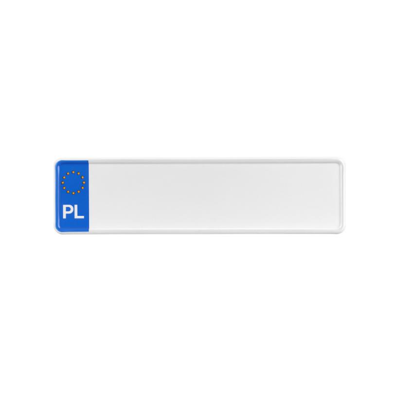 Tablica rejestracyjna polska unijna rozmiar 340 x 90 mm