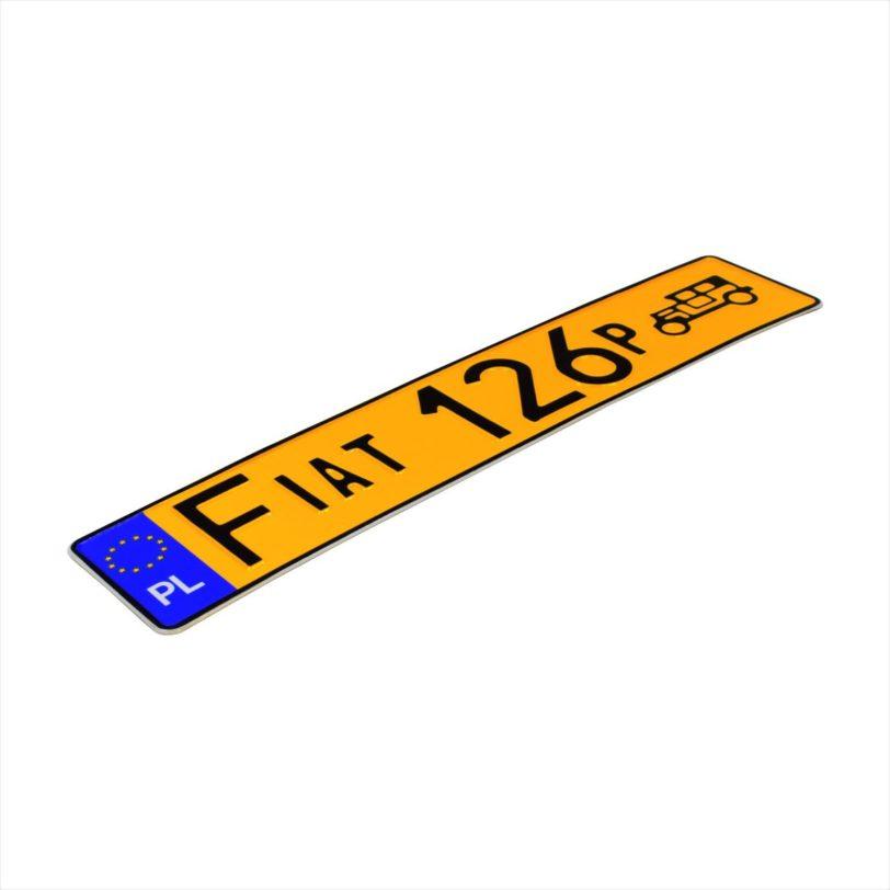 żółte-tablice rejestracyjne fiat 126p
