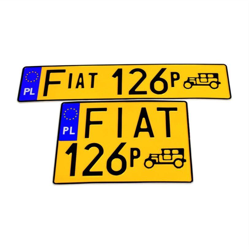 tablice rejestracyjne zabytkowe fiat 126p