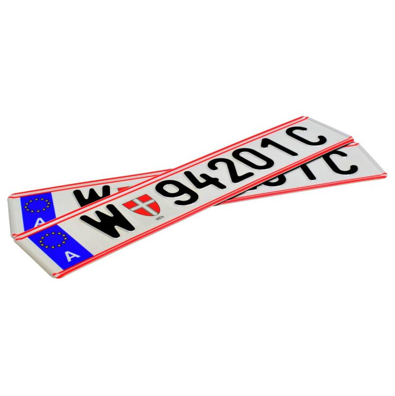 austriackie tablice rejestracyjne oryginalna czcionka austriacka
