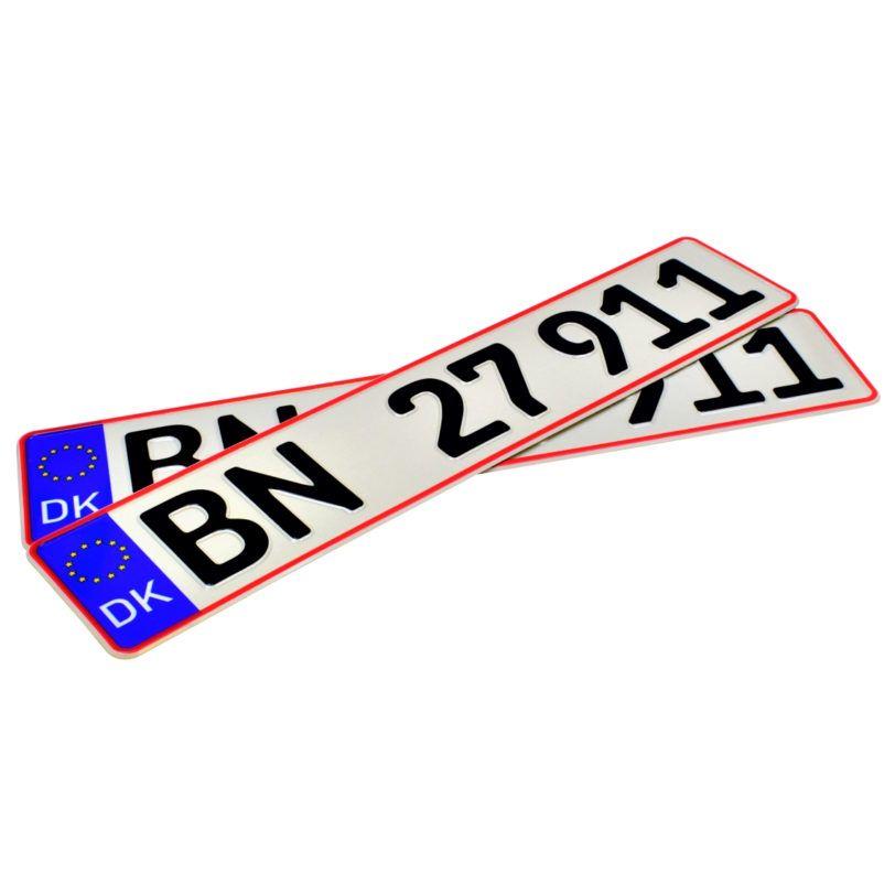 Duńskie tablice rejestracyjne