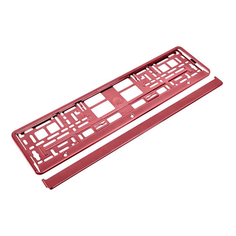 metalizowana ramka do tablicy rejestracyjnej czerwona