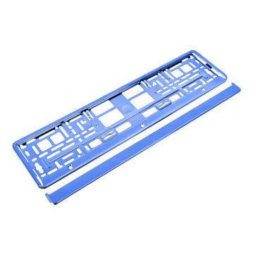 ramka metalizowana do tablicy rejestracyjnej niebieska