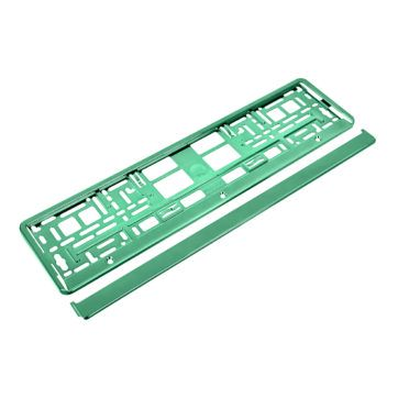 ramka metalizowana do tablicy rejestracyjnej zielona