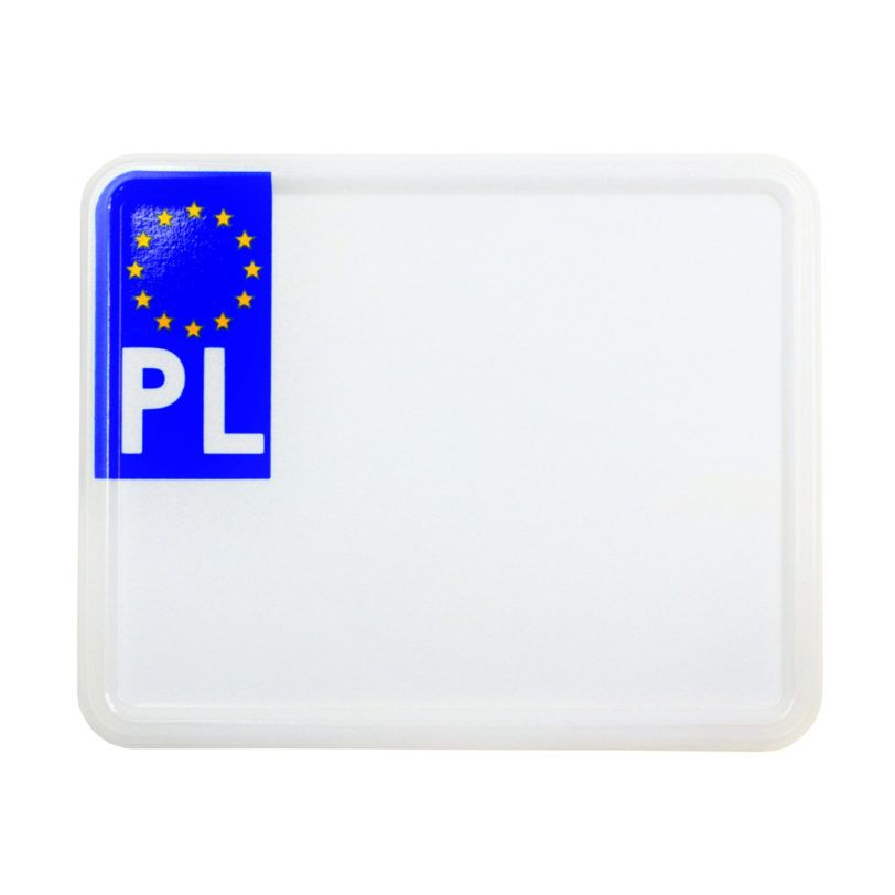 polska tablica rejestracyjna do motoroweru skutera