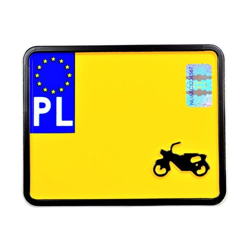 polska tablica rejestracyjna zabytkowa do skutera