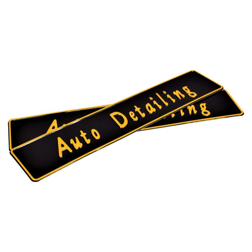 tablice rejestracyjne indywidualne auto detailing