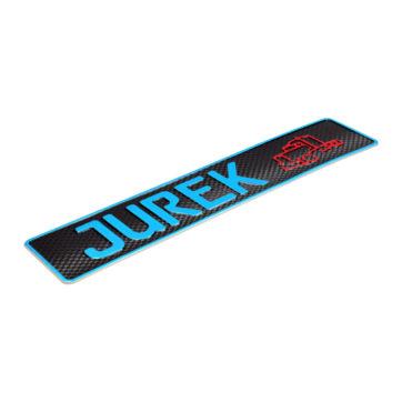 tablica rejestracyjna na szybę z imieniem JUREK