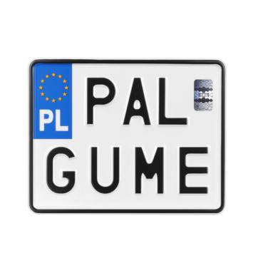 Tablica rejestracyjna Pal gumę