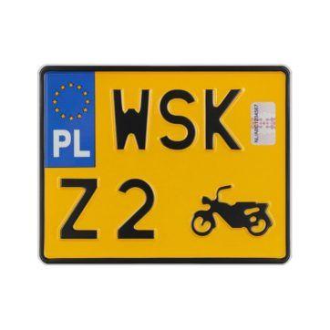 Tablica rejestracyjna motocyklowa zabytkowa