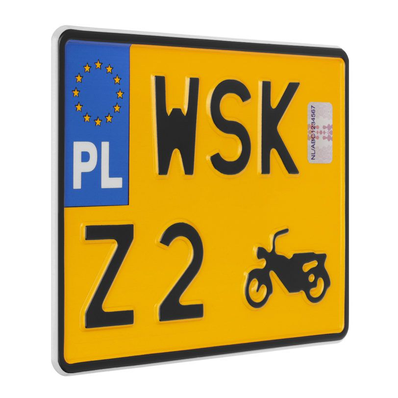motocykl tablica rejestracyjna zabytek
