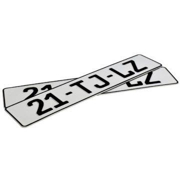 holenderskie tablice rejestracyjne wywozowe białe odblaskowe