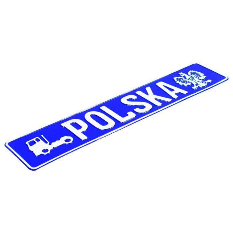 tablica rejestracyjna truck niebieska
