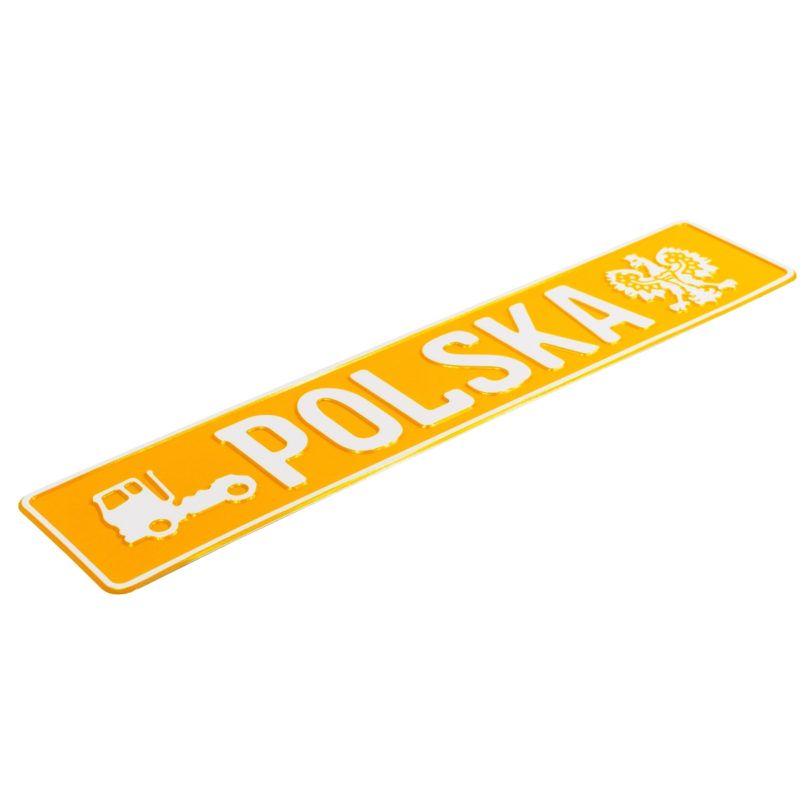 tablica rejestracyjna truck polska żółta